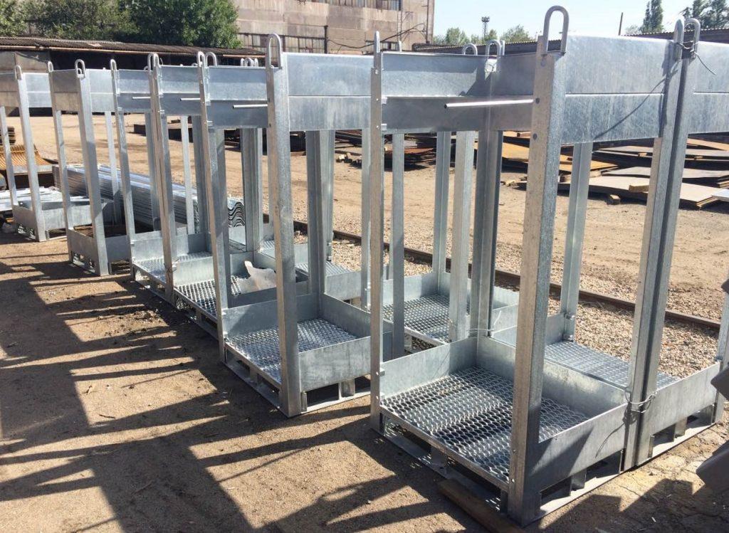 Металлические моноблоки для транспортировки газовых баллонов