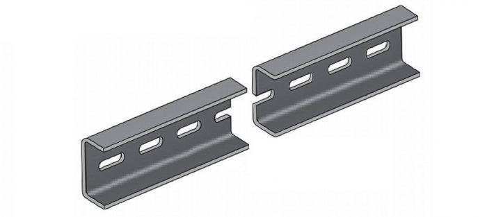 перфорированный металлический монтажный швеллер